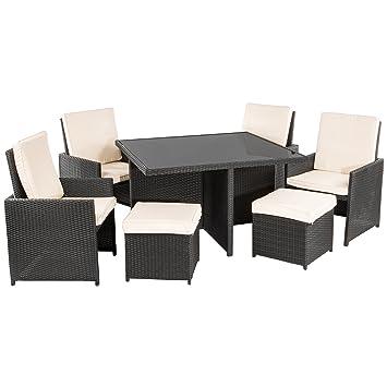 Rattan lounge set  Amazon.de: Ultranatura Poly-Rattan Lounge-Set, Palma-Serie 9 ...
