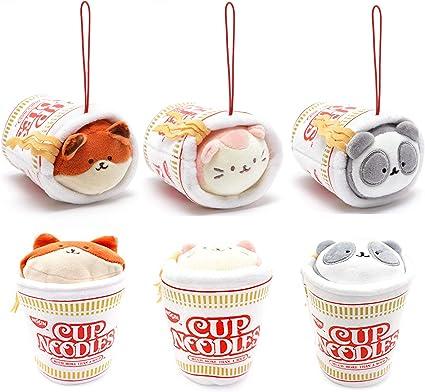 Foxiroll Anirollz Coosy x Nissin Cup Noodles 3.5 Stuffed Animal Mini Blanket Plush Keychain