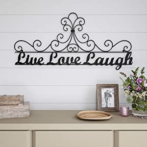 Lavish Home Metal Cutout-Live Laugh Love Wall Sign-3D Word Art Home Accent Decor-Modern Rustic or Vintage Farmhouse Style