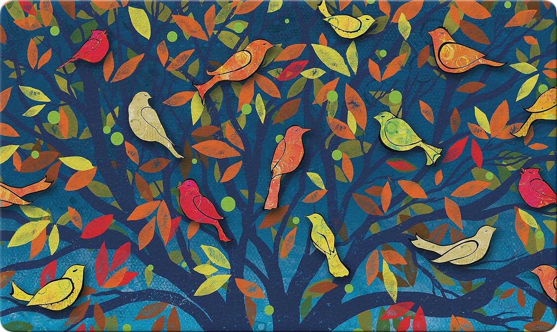 """Toland Home Garden 800435 Colorful Birds Doormat, 18"""" x 30"""", Multicolor"""