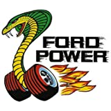 "Ford Power Decal is 3.5"" x 5"" in size with free shipping from the United States"