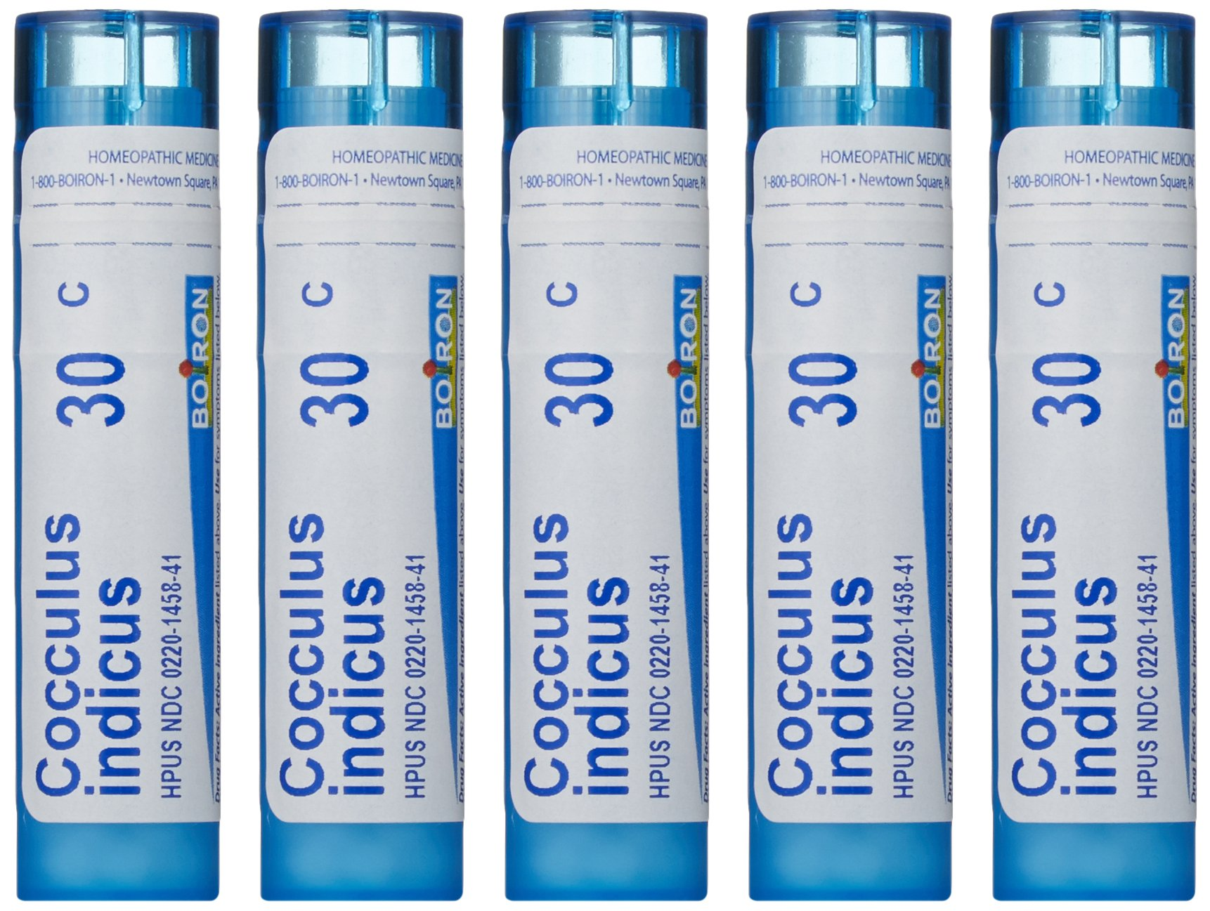 Boiron Cocculus Indicus 30C, Homeopathic Medicine for Motion Sickness (Pack of 5) by Boiron