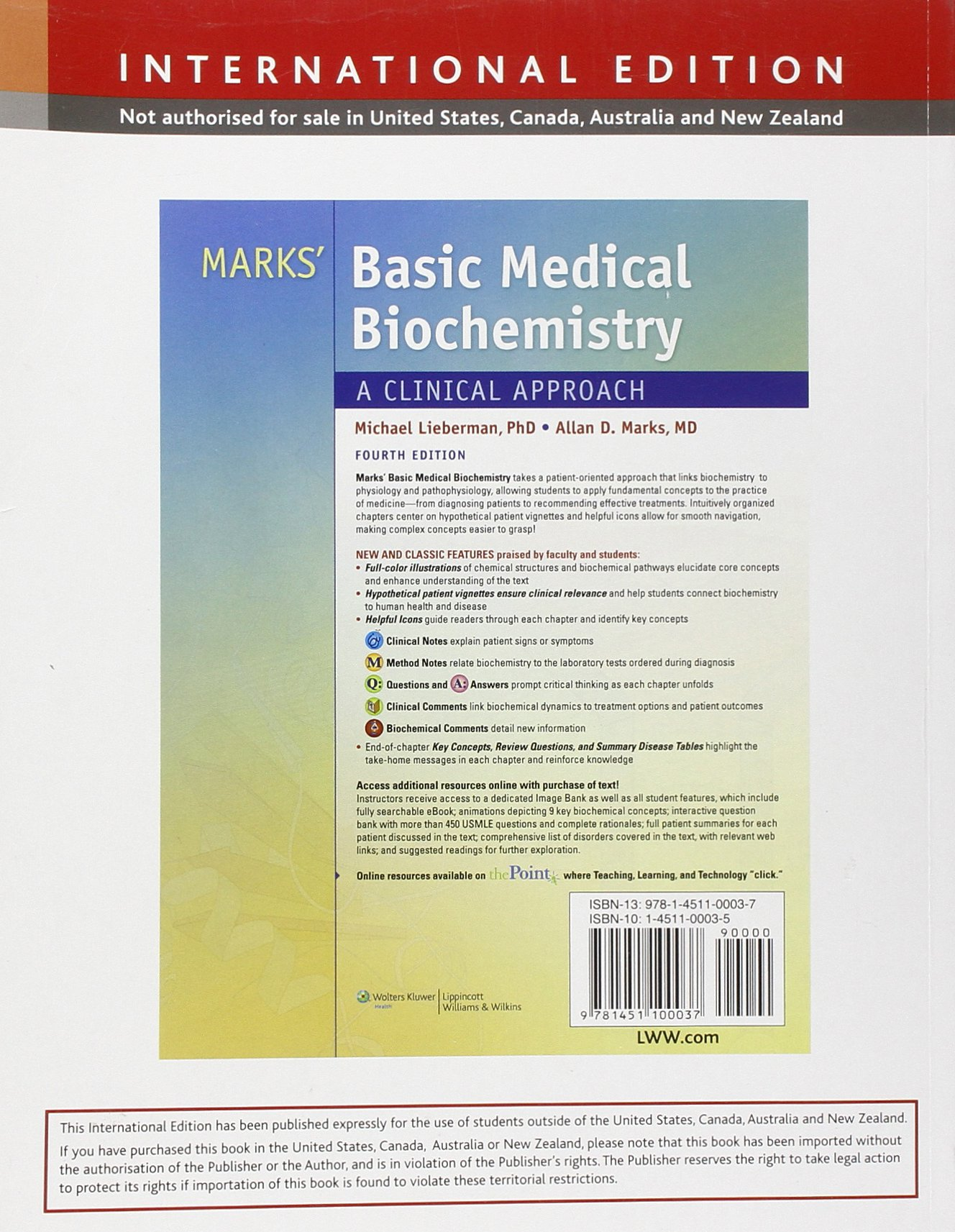 The basics of biochemistry ebook array buy marks u0027s basic medical biochemistry international edition book rh fandeluxe Gallery