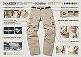 CQR Men's Convertible Pants Zipp Off Stretch