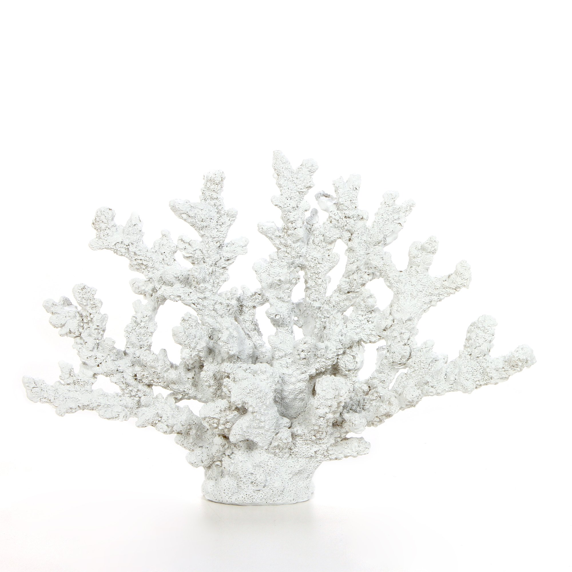 Hosley 7.75'' Tall, Decorative White Resin Tabletop Sculpture Coral. Ideal Gift for Wedding, Home, Party Favor, Spa, Reiki, Meditation, Bathroom Settings P9