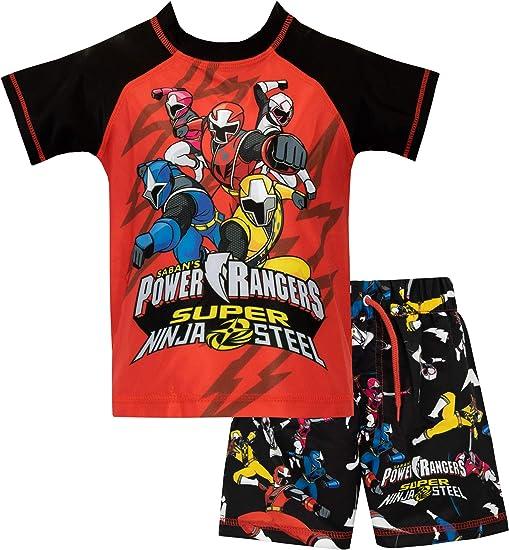 Power Rangers Costume per Bambini Set da 2 con Disegni