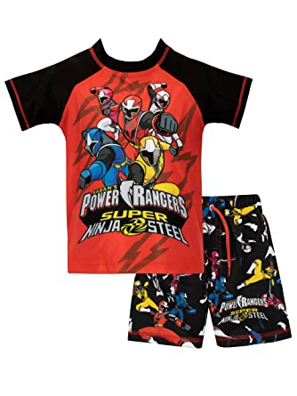 Amazon Com Power Rangers Boys Ninja Steel Two Piece Swim Set Clothing