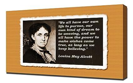 Amazoncom Louisa May Alcott Quotes 2 Canvas Art Print Posters