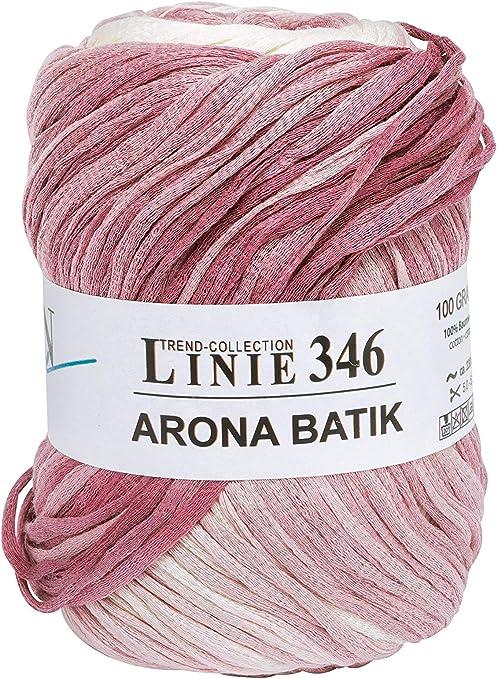 Online - Lana «Arona Batik 346», hilo de 100 g, 100 % algodón: Amazon.es: Hogar