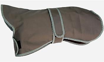 amathings Thermo-Hundemantel In Grau/Blau Wärme-Mantel In Schwarz Für Verschiedene Rückenlängen/Größen