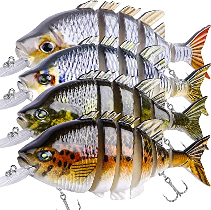 Fish Lures Bait Floating Topwater Rotating Tail Fishing Lures~