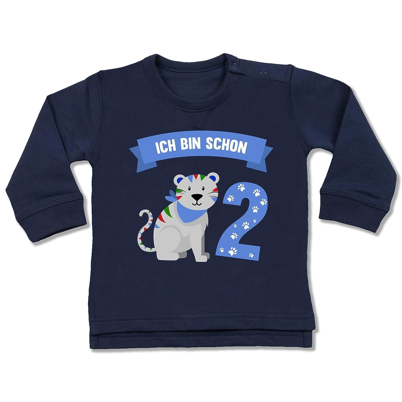 Shirtracer Geburtstag Baby - Ich Bin Schon 2 Tiger - Baby Pullover BZ31
