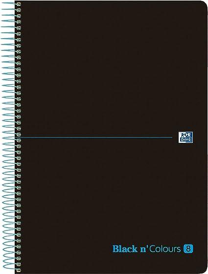 tapa pl/ástico A4+ azul cuadriculado 5x5 Pack 5 Europeanbook-8 espiral