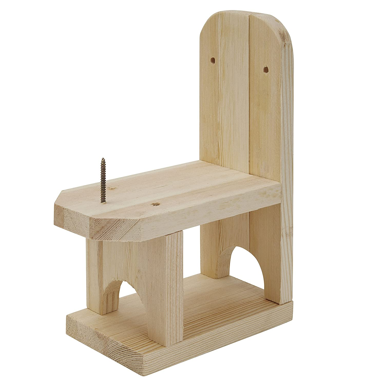Eichhörnchen Futterstation aus Holz in Stuhl Form Bee Proof Suits
