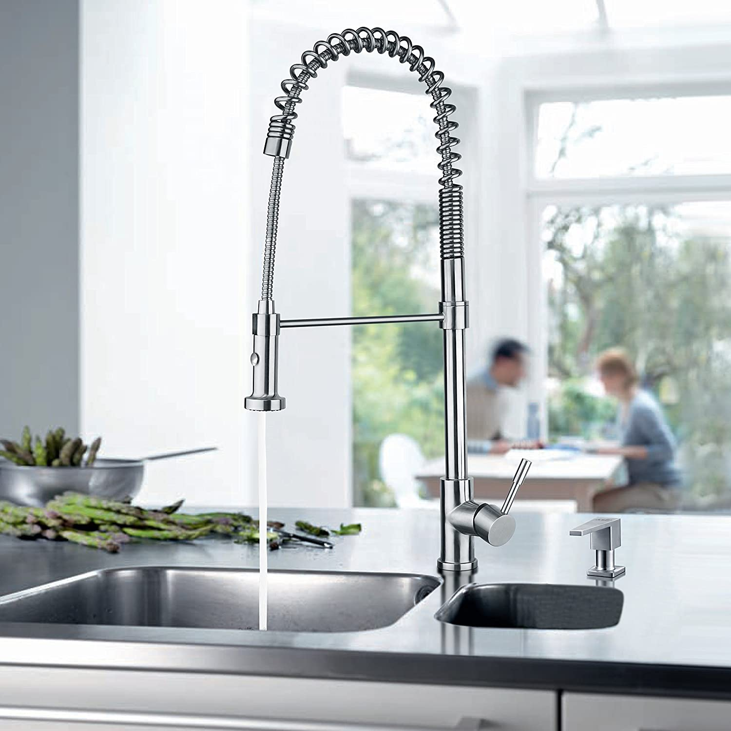 sink of coiled spring interior faucets faucet ollieroo best kitchen home to on spiral and
