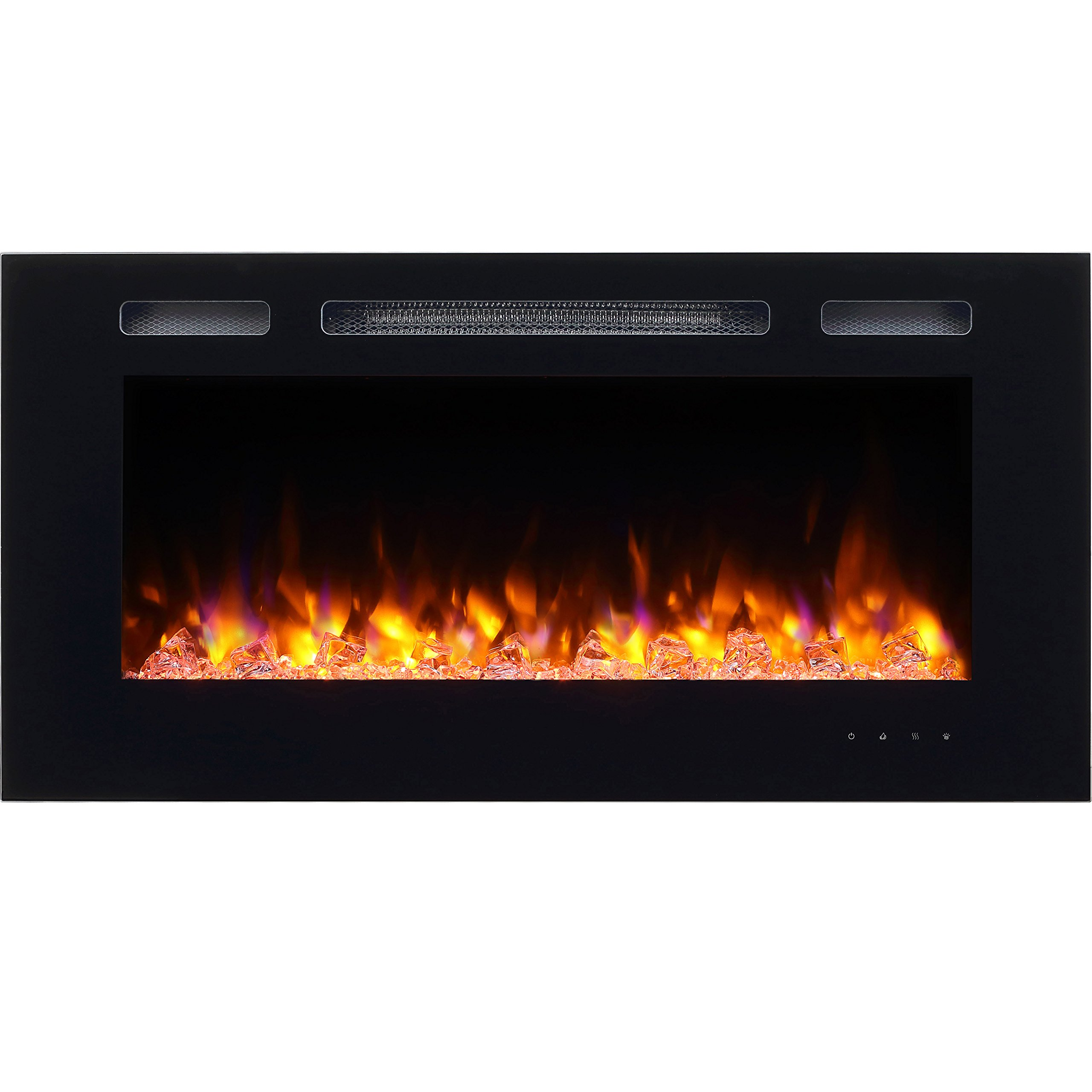 silver view insert amazon mount contemporary larger dp com sei electric fuel wall fireplace gel