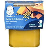 Gerber 2nd Foods Macaroni & Cheese with Vegetables Pureed Baby Food, 4 Ounce Tubs...