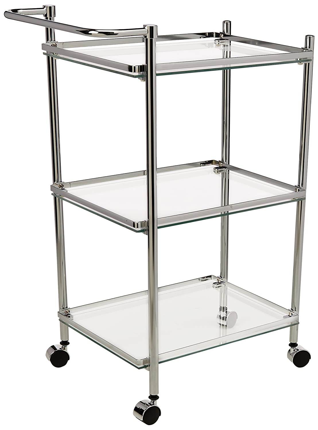 Organize It All 3-Tier Rectangular Serving Cart, Silver 62933W-1
