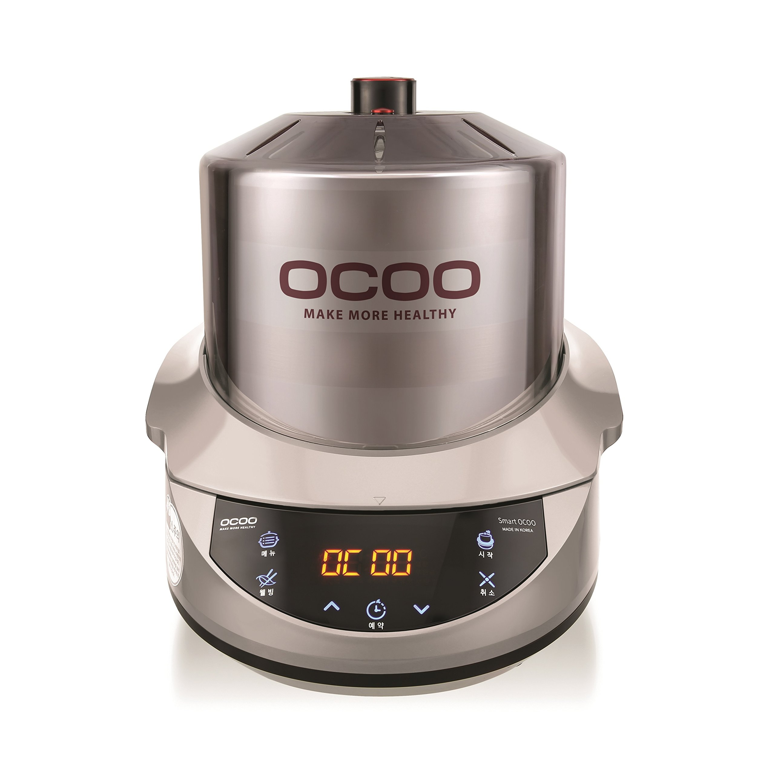 Smart OCOO Metal Silver OC-S1120S Slow Electric Cooker 120V/60Hz by OCOO (Image #1)