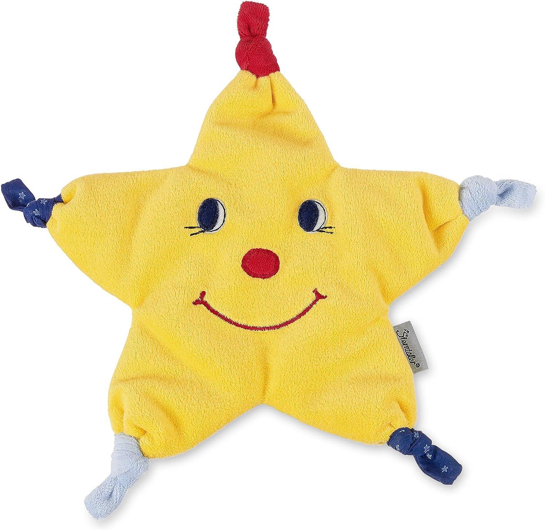 Sterntaler Schmusetuch Stern Gr/ö/ße: 26 cm Alter: F/ür Babys ab dem 1 Monat Farbe: Gelb