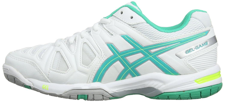ASICS Basket tennis Gel game 5 W Femme Blanc et vert