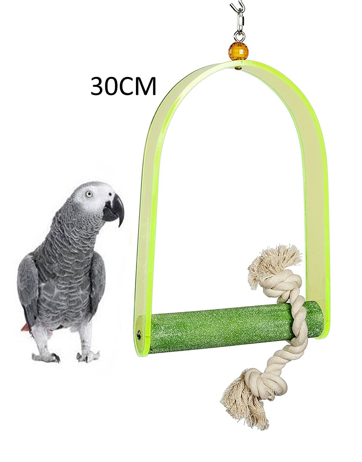 LIBERTA LARGE ACRYLIC TRIMMING PARROT AFRICAN GREY PERCH SWING COLOURS 466L H01