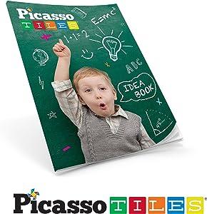 PicassoTiles Idea Book with 90+ Structure Idea