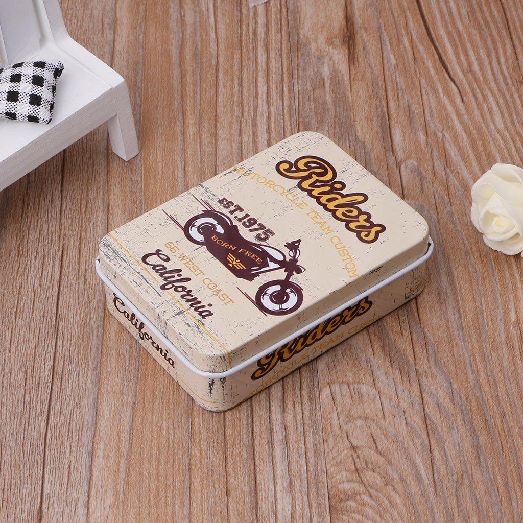 qiman Mini caja de metal para almacenamiento de bid/ón de Sucrerie de bid/ón de Bijoux de bote de pieza de moneda de pendientes de Auriculares 01#