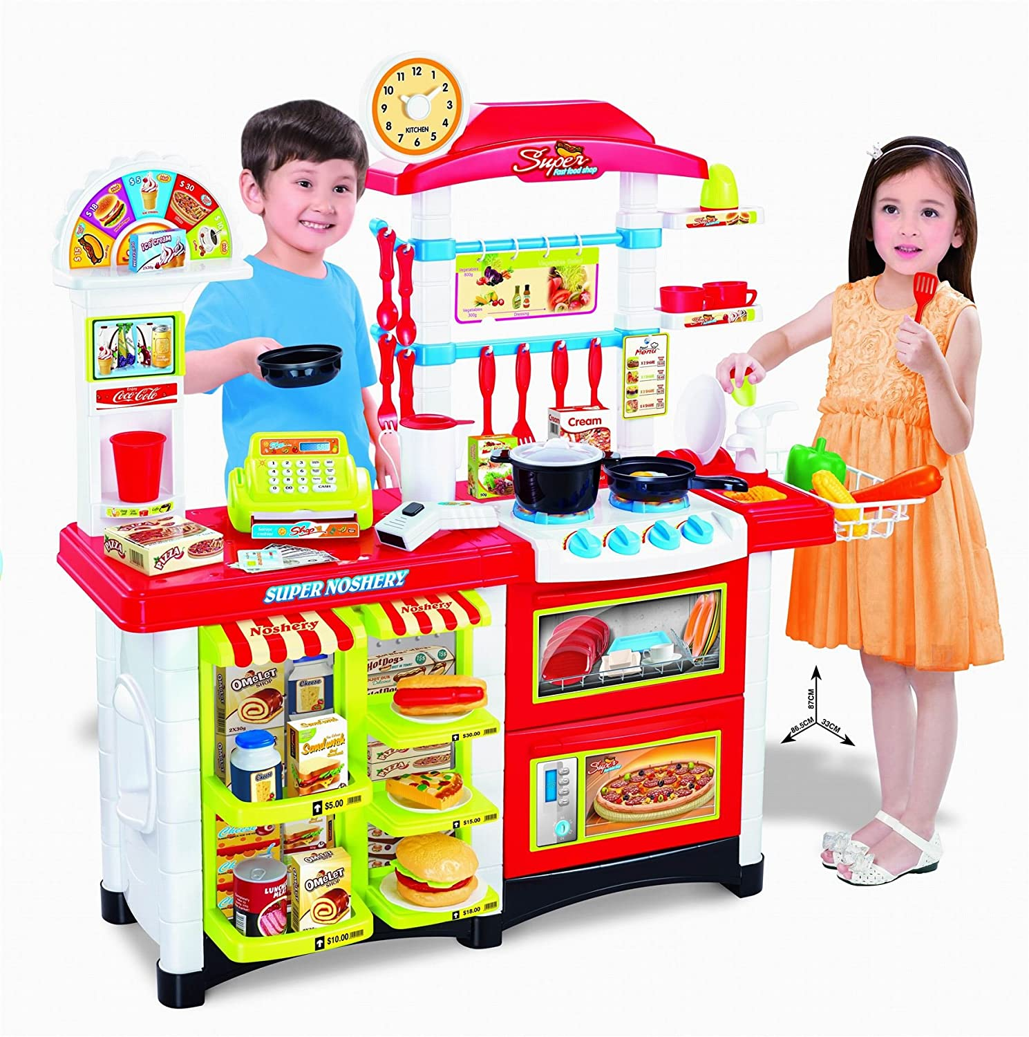 Vinsani Kitchen Food Cooking Appliances Kids Craft Pretend Play