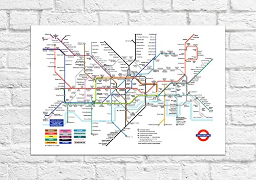 london underground tube map tourist souvenir posterart unframed print