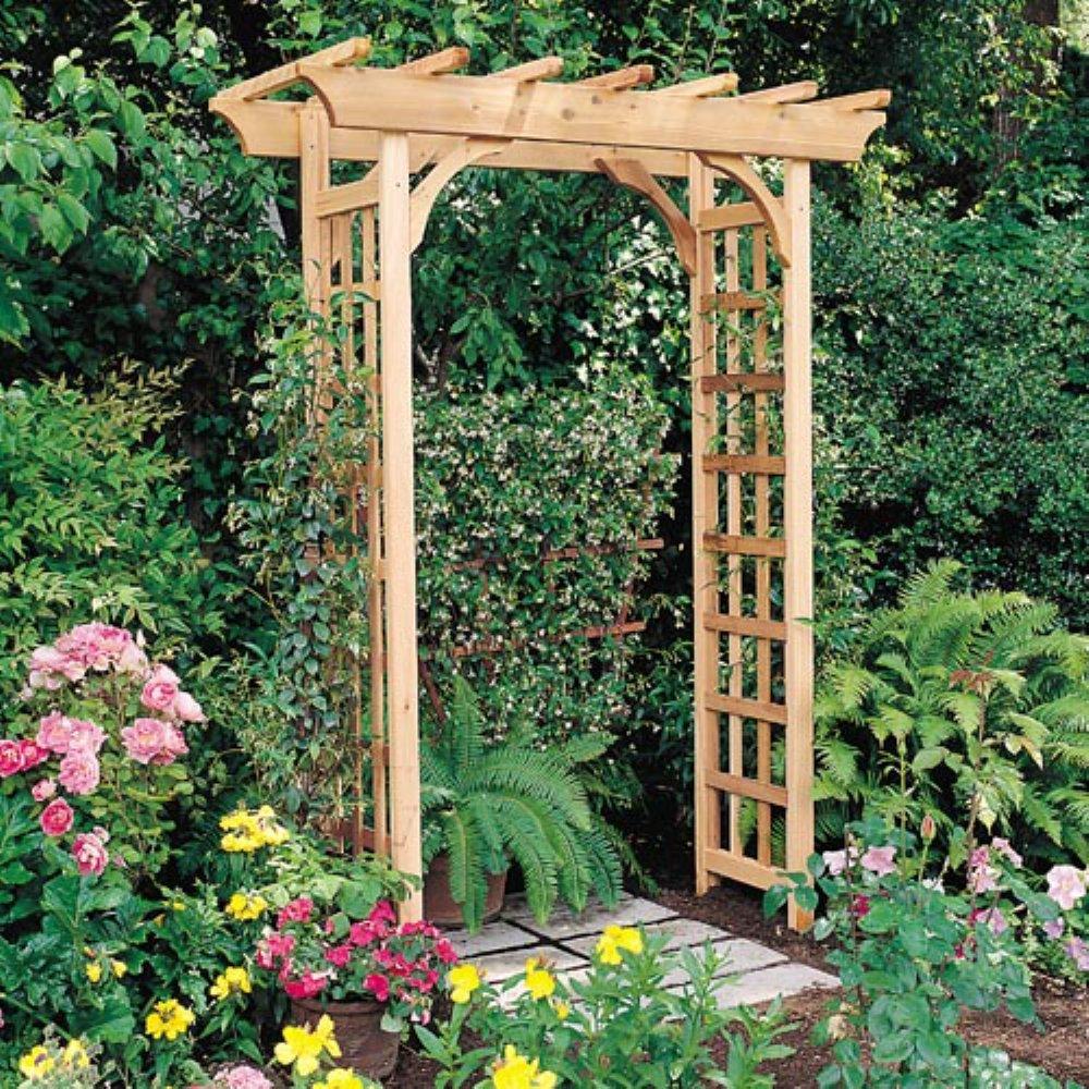 Arboria Rosedale 7-ft. Cedar Pergola Arbor