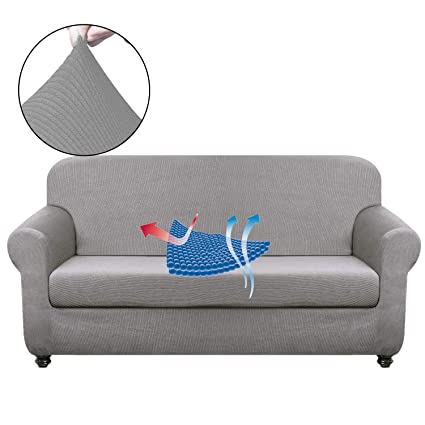 Excellent Chelzen Stretch Sofa Covers Living Room 2 Piece Extra Large Couch Covers Striped Furniture Protectors Spandex Fabric Dog Sofa Slipcovers Xl Sofa Frankydiablos Diy Chair Ideas Frankydiabloscom