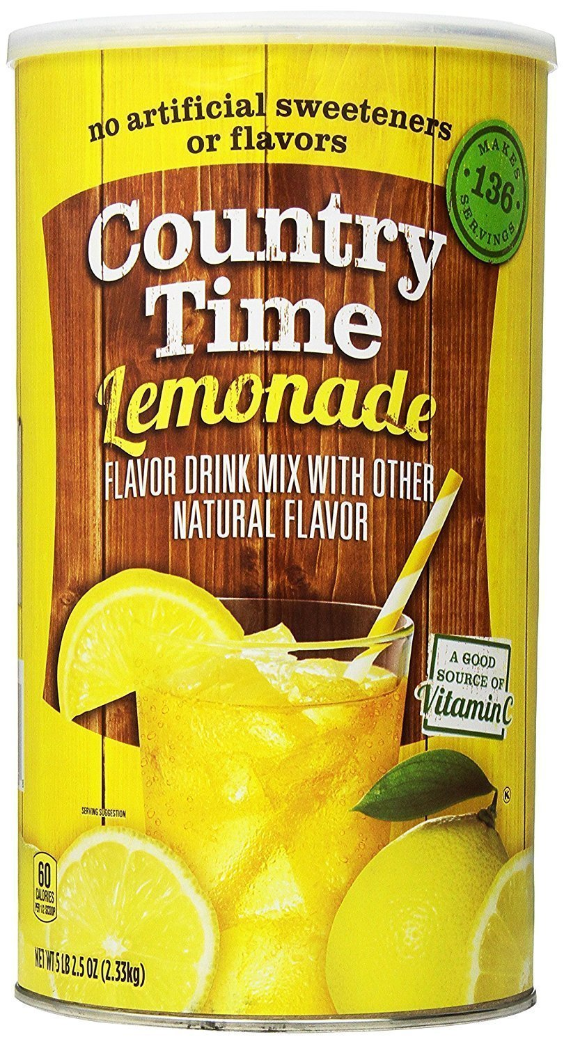 Country Time Flavored Drink Mix Lemonade, 82.5 Ounce Canister x 4 Packs (Total 330 Oz) by Country Time
