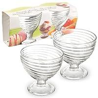 Glass Dessert Bowls Dishes - for Ice Cream, Sundae, Punch, Appetiser, Fruit, Pudding & Cocktail