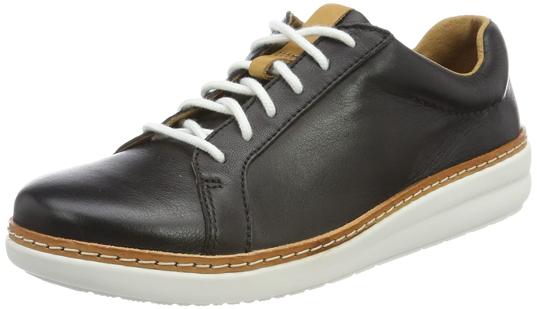 Clarks Amberlee Rosa, Zapatillas para Mujer 39 EU Negro (Black Leather)