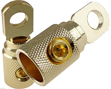 2 FYL Wire Ring Terminals Gold 1//0 Gauge 5//16 Connectors