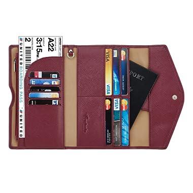 Travelambo Rfid Blocking Passport Holder Wallet & Travel Wallet Envelope Various Colors