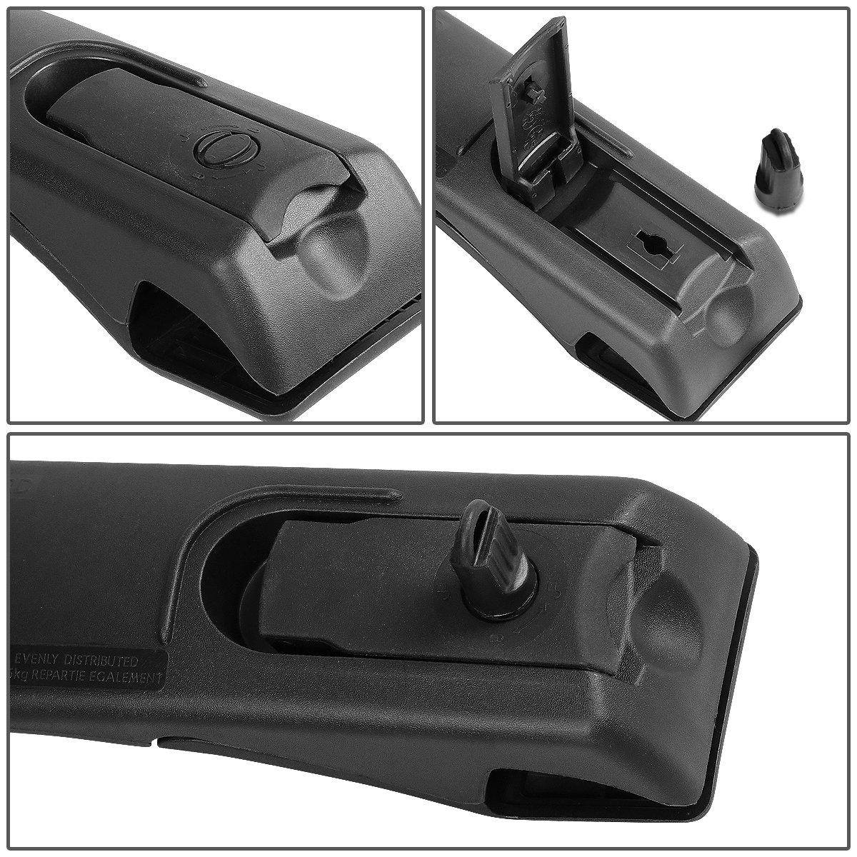 Pair OE Style Aluminum Roof Rack Top Cross Bars w//Lock /& Key for Toyota RAV4 13-16