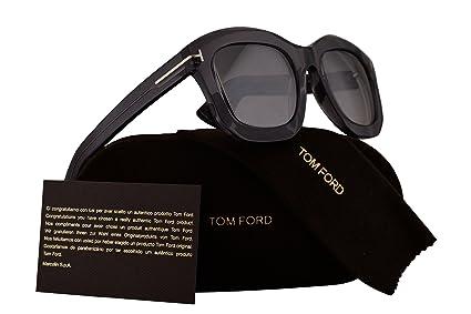 227654f48325 Amazon.com  Tom Ford FT0582 Julia-02 Sunglasses Grey Transparent w ...