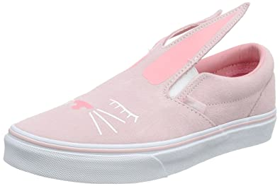 Vans Slip-On Bunny Chalk Pink True White Kids Sneakers Shoes (1.5 M 403762c8356