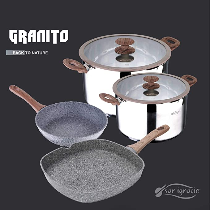 Amazon.com: Granito by Bergner Home Premium Forged Aluminum ...