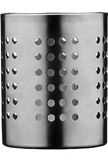 Premier Housewares - Soporte para cubiertos (diámetro 10 cm, acero inoxidable perforado),