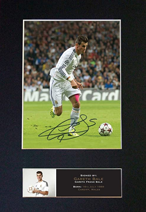 c2b177f0091 GARETH BALE No2 Real Madrid Signed Autograph Mounted Photo Repro A4 no552  (Un-framed