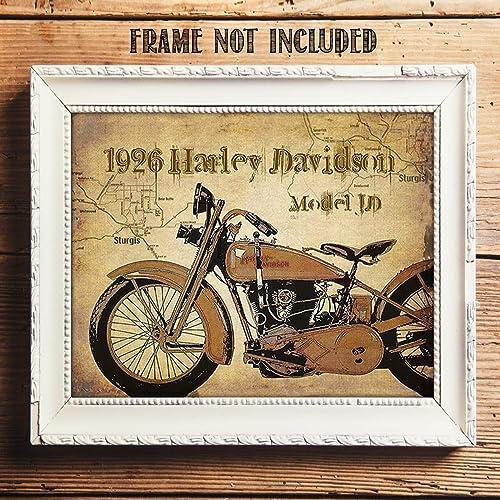 Amazon Com Harley Davidson 1926 Jd Model Motorcycle Vintage Print
