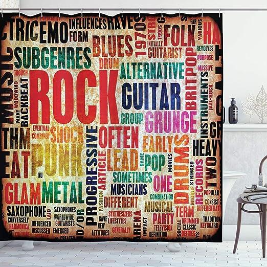 ABAKUHAUS Música Cortina de Baño, Retro Símbolo de Rock and Roll ...