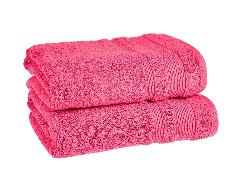 Color cereza Supersoft egipcio Zero Twist (cara, mano, bañera, hoja, alfombra de baño), algodón egipcio, Cerise, 2x Hand Towels: Amazon.es: Hogar