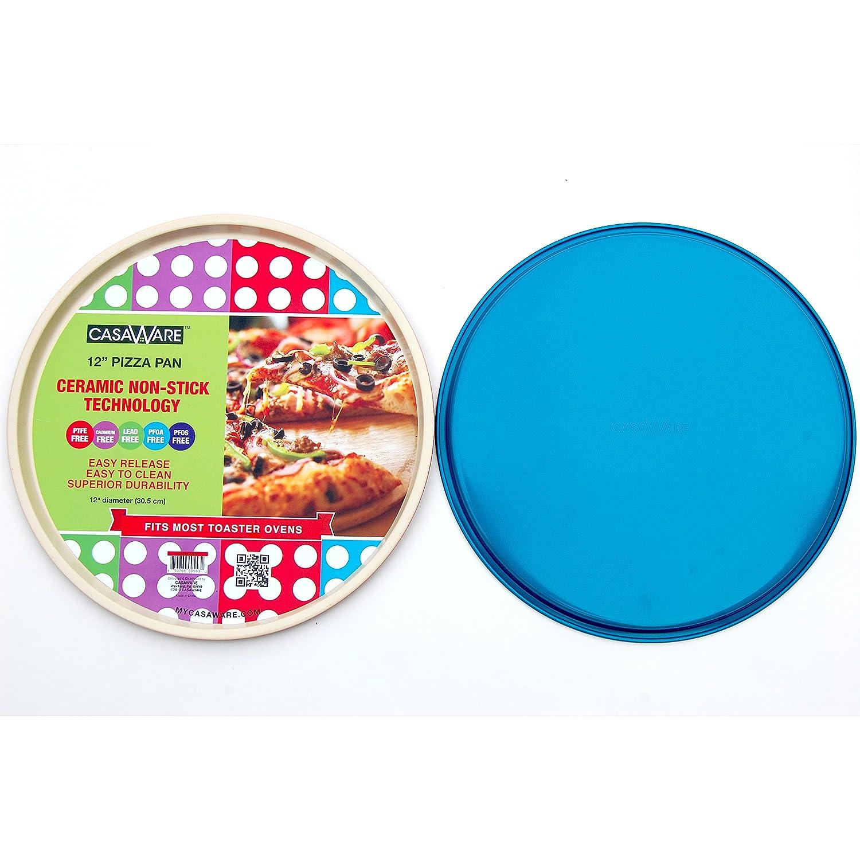 Amazon.com: casaWare Ceramic Coated Non-Stick 12-Inch Pizza Pan ...