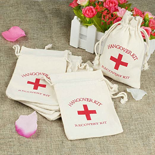 Amazon.com: vlovelife 10pcs Wedding Party Favor Bags 4 x 6 ...