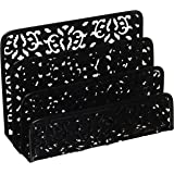 Design Ideas Brocade Letter Holder, Black
