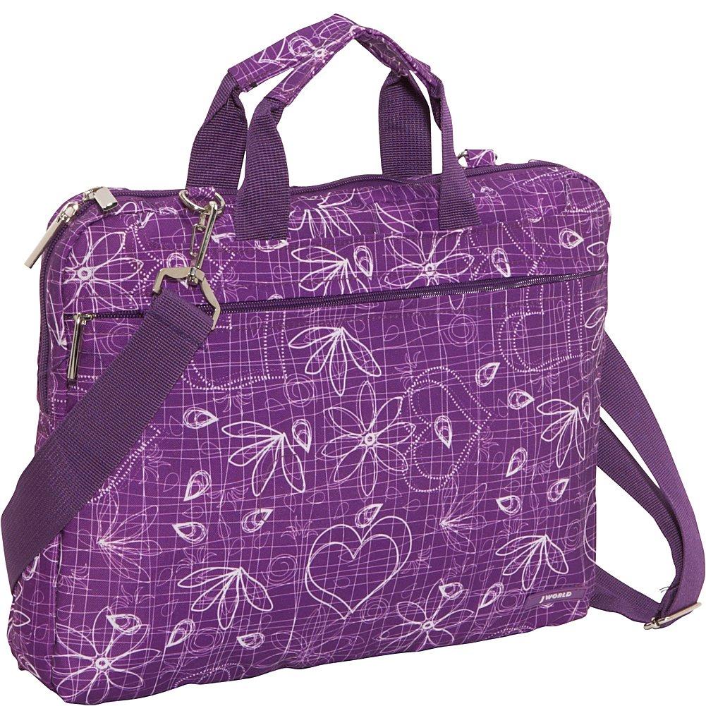J World New York Jeanie Laptop Bag (Love Purple)